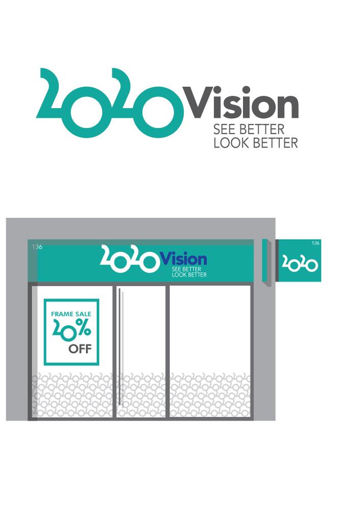 20 20 VISION - Optician branding - Michael Sackey