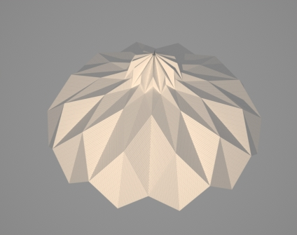 Paper Prototype Of Faceted Parametric Lamp Designed In Rhino W Grasshopper