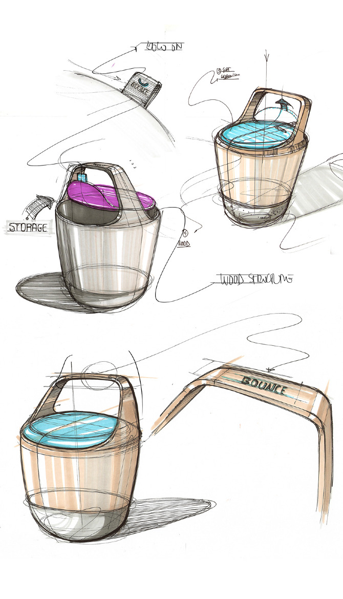 Passion sketching ideas for Furniture sketch design